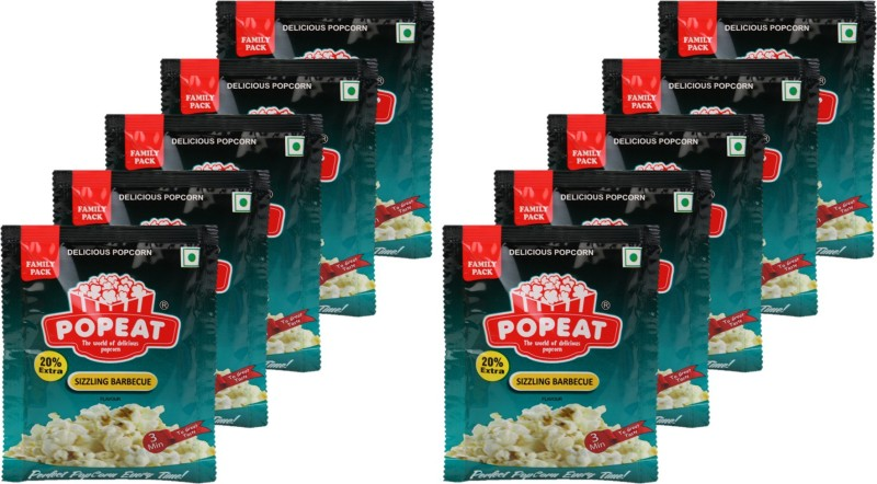 PopEat Sizzling Barbecue Sizzling Barbecue Popcorn(900 g, Pack of 5)