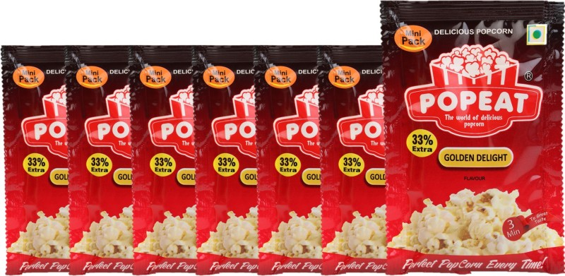 PopEat Golden Delight Golden Delight Popcorn(420 g, Pack of 7)