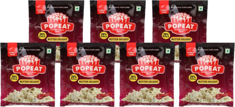 PopEat Butter Delight Butter Delight Popcorn(420 g, Pack of 7)