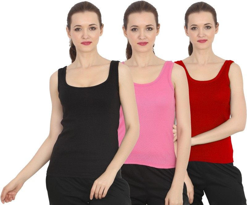 Chilee Life Casual Sleeveless Solid Women Black, Pink, Maroon Top