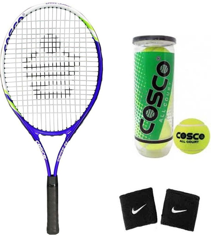 Cosco Drive 26 (Junior Size - 26 Inch) (Age Group - 10 to 12 Years) Tennis Racquet (Color on Availability) with Tennis Ball