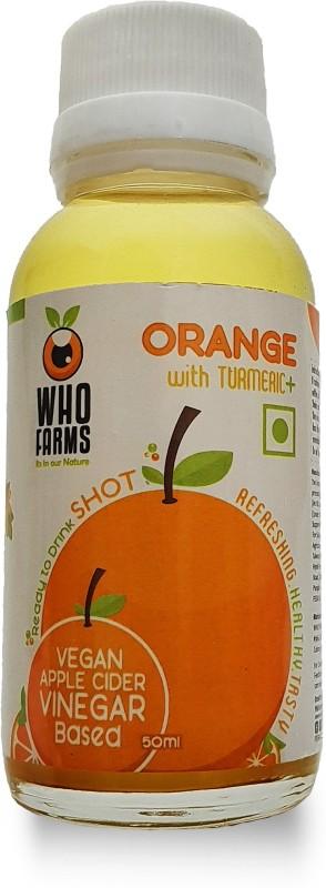 WhoFarms Apple Cider Vinegar Shots - Orange with Turmeric (50 ml - pack of 12) Vinegar(50 ml, Pack of  12)
