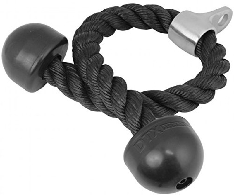 Red Lion Tricep Gym Rope Black(Length: 6.5 m, Diameter: 10.5 mm)