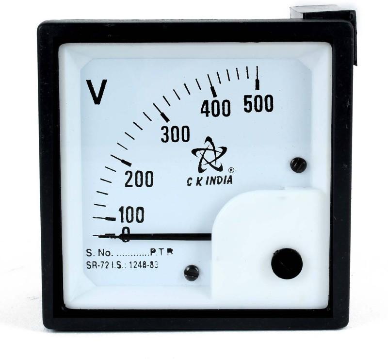ckindia 72 MM AC 500 VOLT METER Voltmeter(Analog)