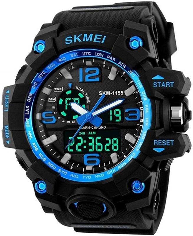 Skmei skm-1155-Blue Skmei Analog-Digital Watch - For Boys