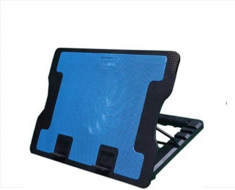 Shopfloor.XYZ NOTEBOOK Cooling Pad(Blue, Black)