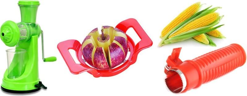 Magikware Kitchen Combo Green Prime Juicer With Apple Cutter + Corn Cutter Kitchen Combo Green Prime Juicer With Apple Cutter + Corn Cutter Kitchen Tool Set