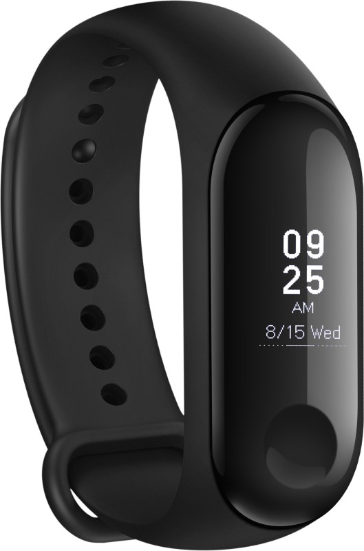 Mi Band 3(Black Strap, Size : Regular)