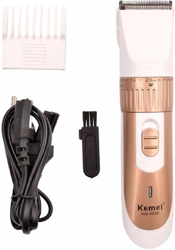 Kemei KM 9020 Professional Hair Cordless Trimmer for Men(Gold, White)