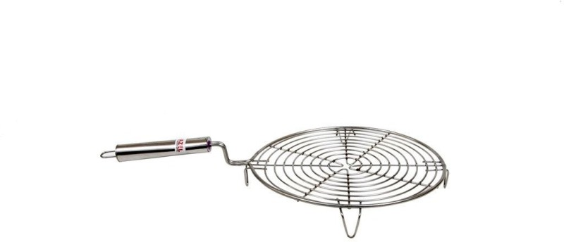 Hazel Steel Papad Jali Circle Steel Handle, Stainless Steel, Silver Glider Rack Grill(Pack of 1)