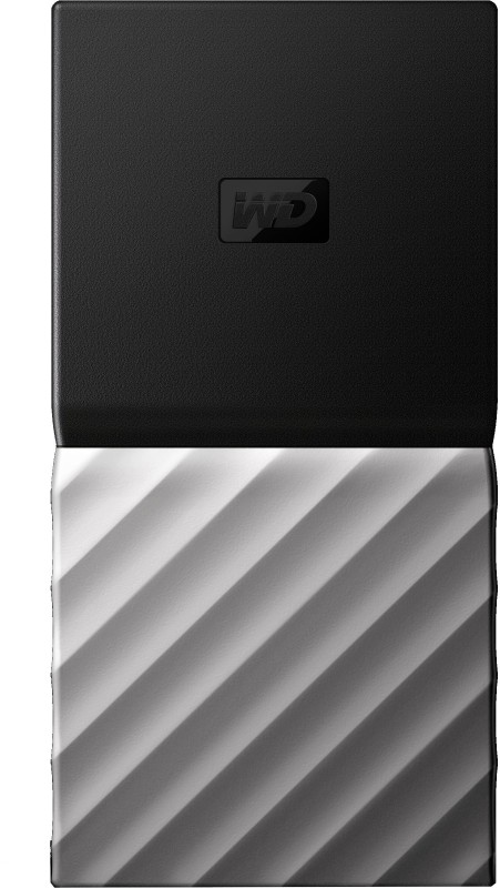 WD My Passport 1 TB Wired External Solid State Drive(Black, Grey)
