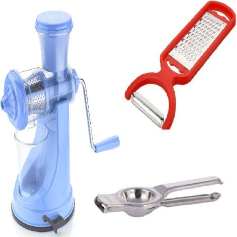 Magikware Prime Juicer Blue With Peeler + Lemon Squeezer Kitchen Combo Silver Kitchen Tool Set(Silver)