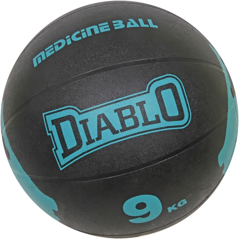DIABLO 9KG Premium Quality Light Blue Rubber Medicine Ball Medicine Ball(Weight:  9 kg, Blue)