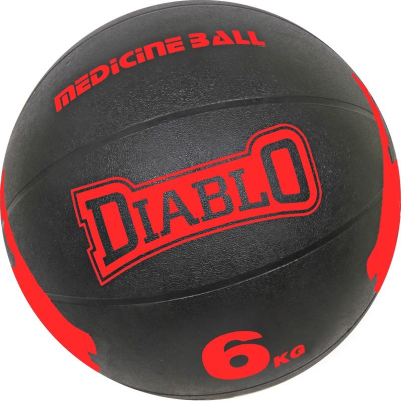 DIABLO 6KG Premium Quality Red Rubber Medicine Ball Medicine Ball(Weight:  6 kg, Red)