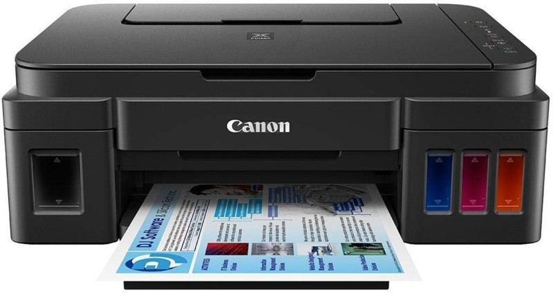 Canon Pixma Ink Tank G 3000 Multi-function Wireless Color Printer(Black, Refillable Ink Tank)