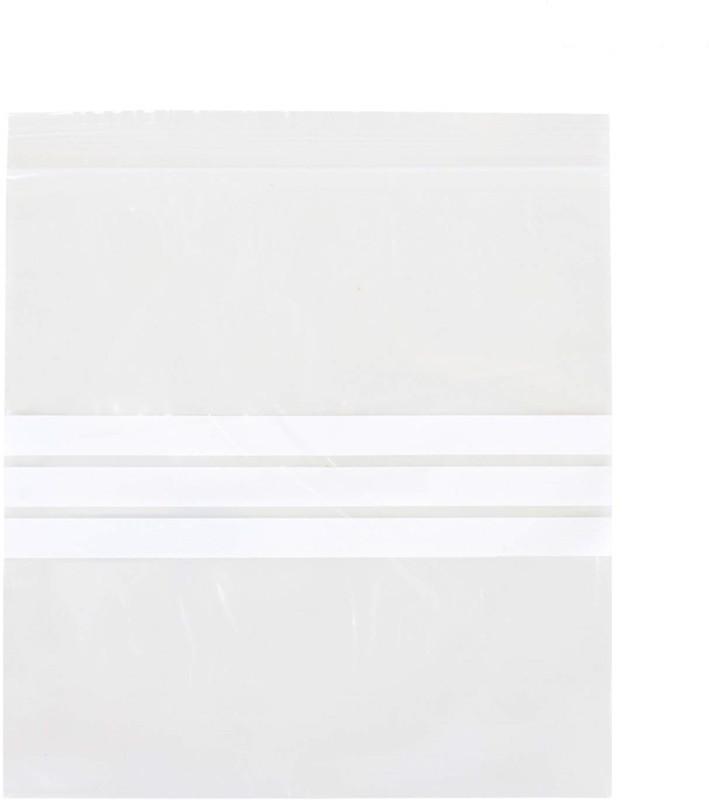 HOMIZE Reusable Zip Lock Bag, Food Bag, 15.5 cm x 15.5 cm, Transparent, Pack of 20 Piece Plastic Storage Pouch(Pack of 1)