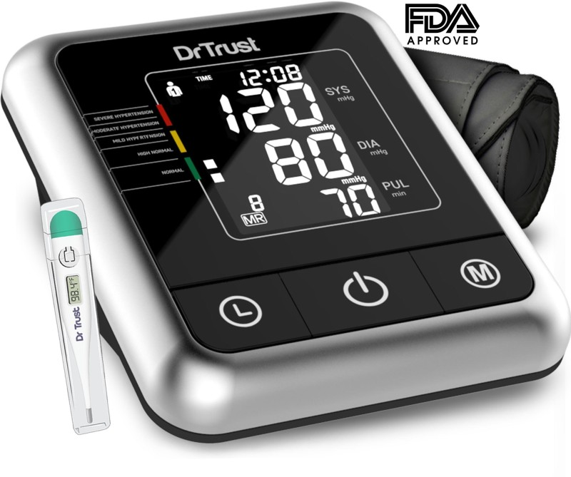 Dr. Trust (USA) Fully Automatic A-One Galaxy Digital Blood Pressure Monitor Machine (Micro USB Compatible) Bp Monitor(Black)