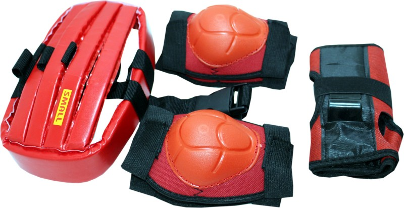 HARVEY SPORTS & FITNESS Kids Protective Skating Guard Kit (4 in 1 - Medium)  Skating Guard Combo(Red)