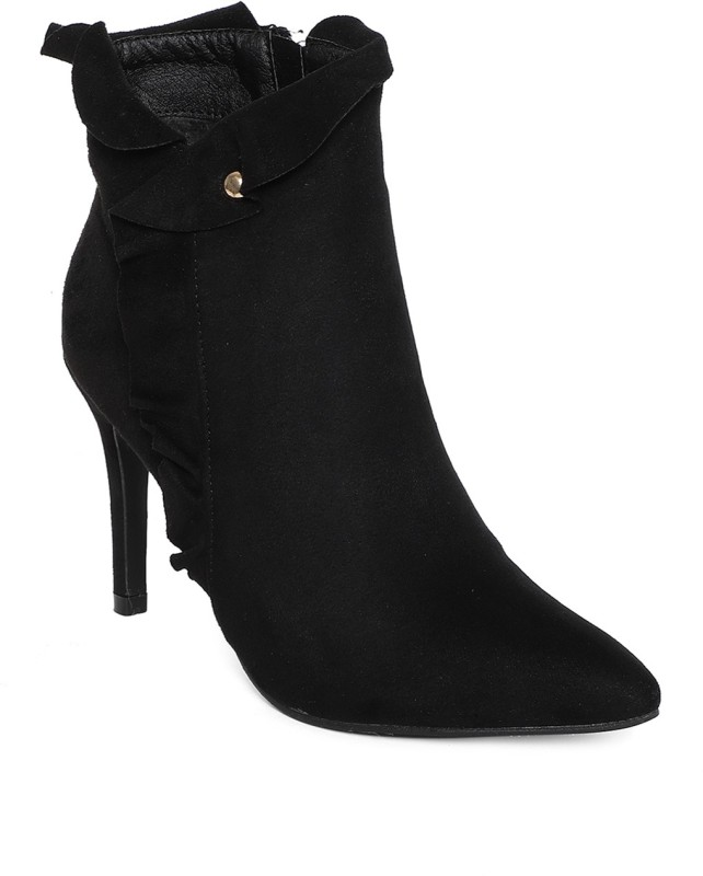 Kielz Black-Women-Stiletto-Boots High Tops For Women(Black)