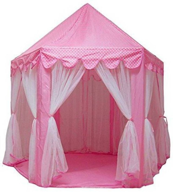 Kidoyzz Tent with Mosquito Net Design Tent - For Kids(Pink)