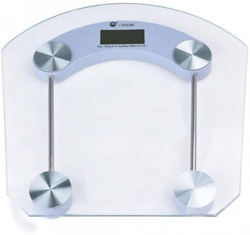 INDOSON new_square_glass_8742 Weighing Scale(White)