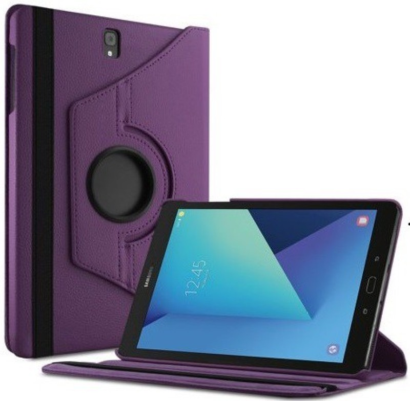 TGK Book Cover for Samsung Galaxy Tab S3 9.7 Inch (Sm-T820, T825) 360 Degree Rotating Leather Flip Case Stand(Purple, Cases with Holder)