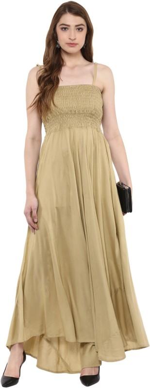 Aawari Straight Gown(Brown)
