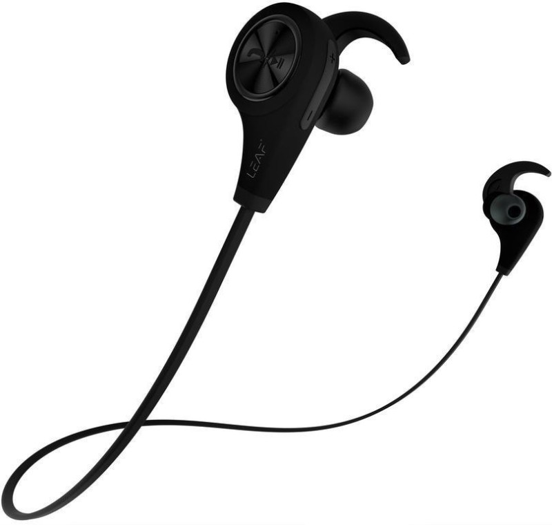 Leaf Ear ExtraBass Bluetooth Headset with Mic(Black, In the Ear)