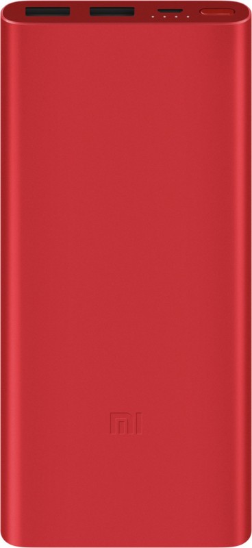 Mi 10000 mAh Power Bank (PLM09ZM, 2i)(Red, Lithium Polymer)