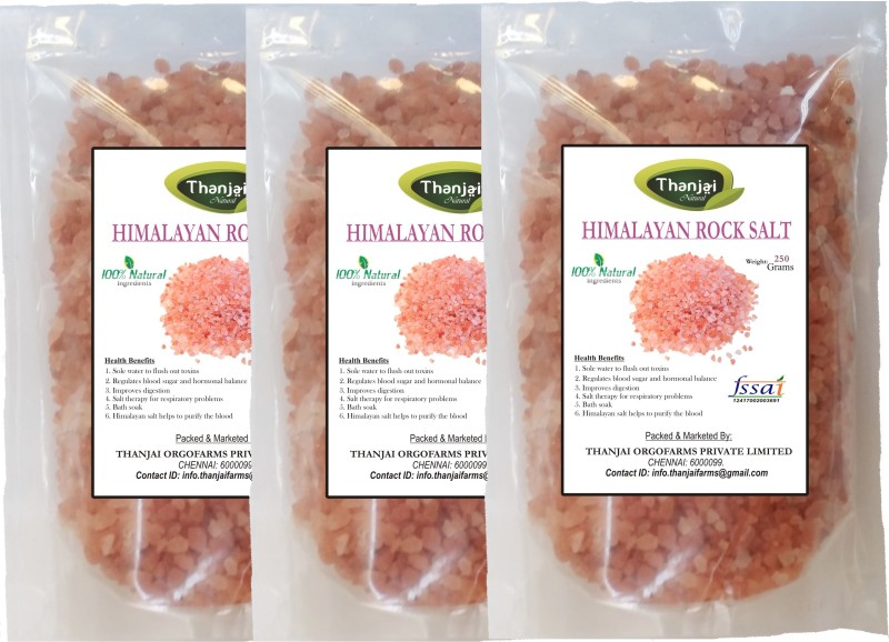 THANJAI NATURAL Thanjai Natural's Himalayan 1st Quality Pink Rock Salt 750grams Best Offer !!! Rock Salt(750 g, Pack of 3)