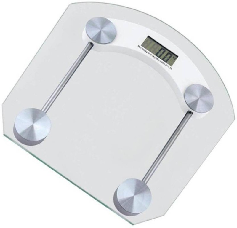 INDOSON square glass scale Weighing Scale(White)