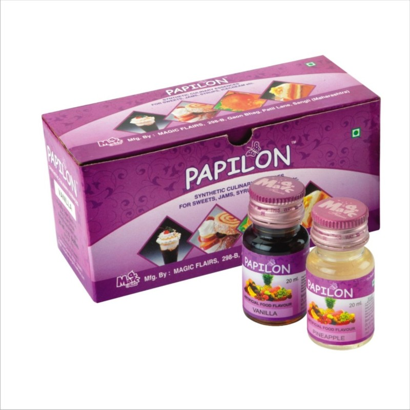 Papilon Assorted Culinary Essence (20 Ml X 10 Bottles) Mixed Fruit Liquid Food Essence(20 ml)