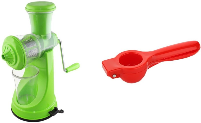Magikware Prime Juicer Green With Plastic Lemon Squeezer Kitchen Combo Kitchen Tool Set