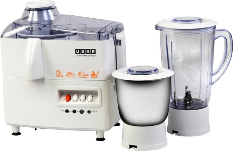 Usha jmg 3345 450 Juicer Mixer Grinder(White, 2 Jars)