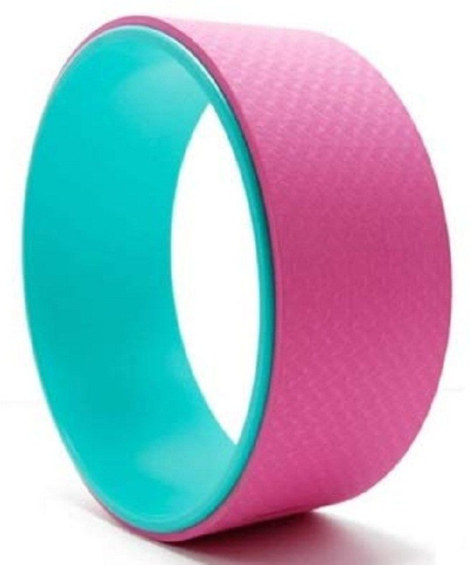Jern Yoga Wheel Sports Wheel Thin Back Lower Back Training Pilates Circle Fitness Aid Pilates Ring(Pink)