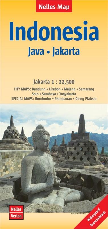 Java / Jakarta Indonesie Bandung-Cirebon 2016(English, Sheet map, folded, unknown)