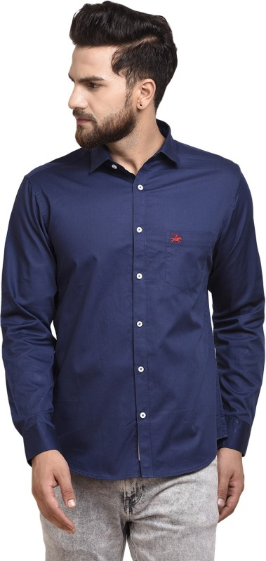 WESTLAND'S COWBOY Men Solid Casual Blue Shirt