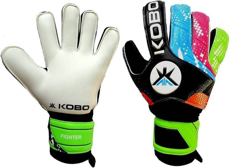 Kobo Fighter Football Gloves Goalkeeping Gloves (M, Black)