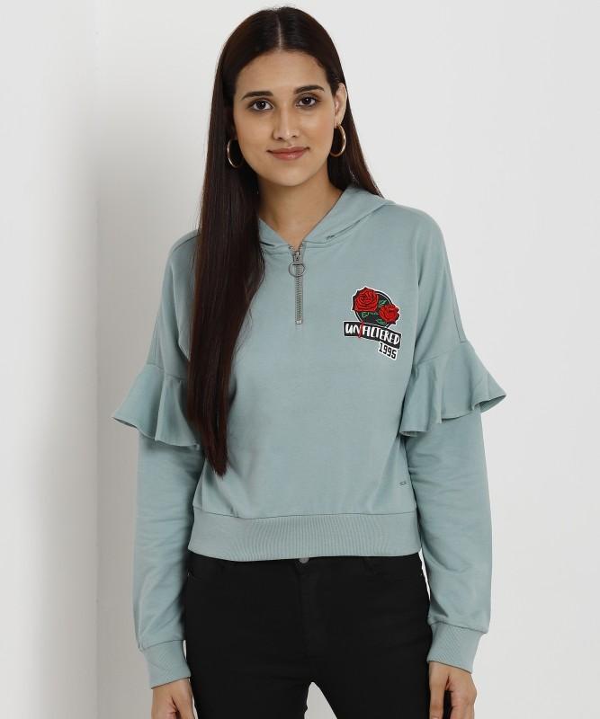 Only Full Sleeve Solid Women Sweatshirt