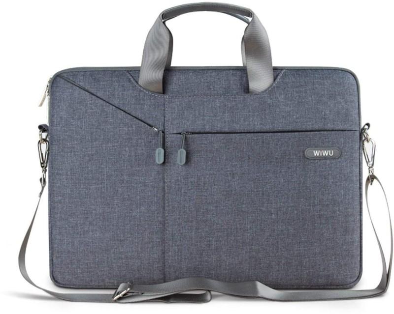 Wiwu 15.6 inch Laptop Messenger Bag(Grey)