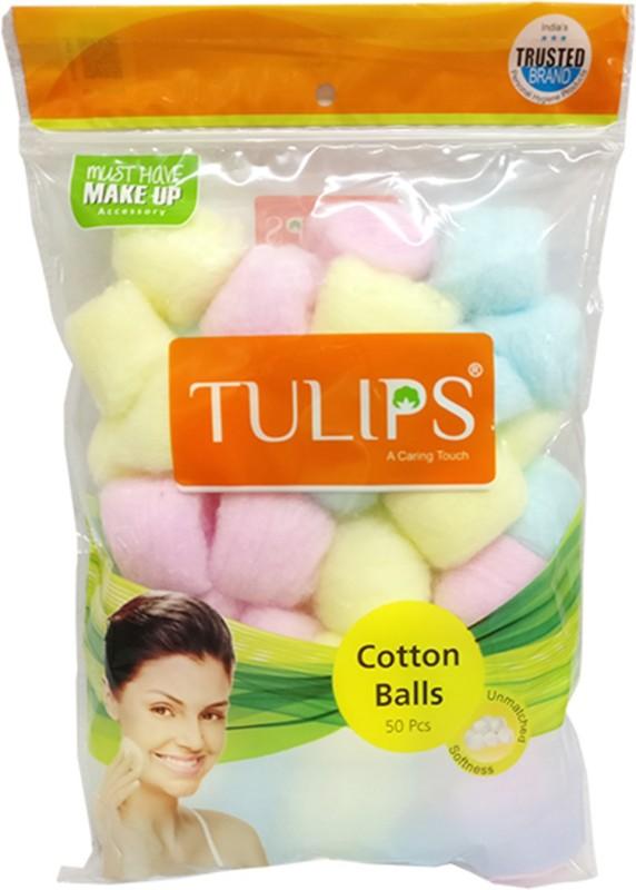 Tulips Cotton Balls 50pcs-Color (Pack Of 6)(6 Units)
