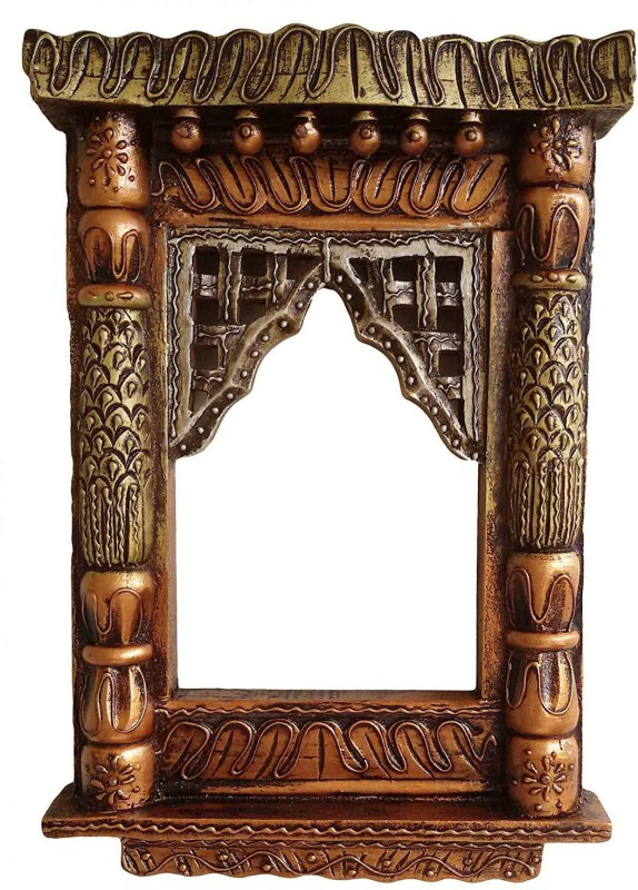 Craftatoz Wood Jharokha(40 cm x 25 cm Handcrafted)