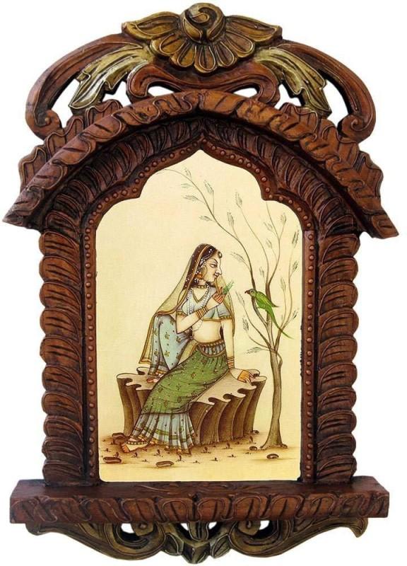 Craftatoz Wood Jharokha(48 cm x 28 cm Handcrafted)