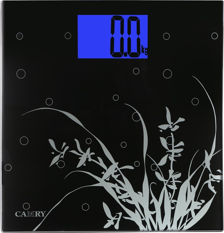 Camry EB9323H-S121 High Accuracy Black Ultra Slim With Extra Large LCD Display Glass Electronic Personal Body Scale Weighing Scale(Black)
