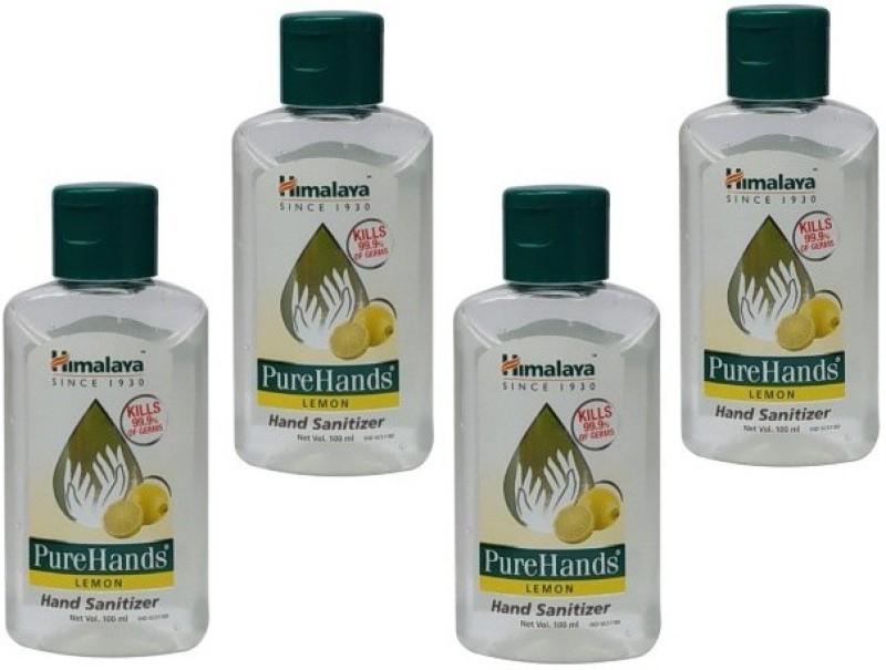 Himalaya Pure Hand Lemon fregrance Set of 4 packs 100 ml each Total 400 ml Bottle(4 x 100 ml)