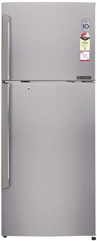 LG 420 L Frost Free Double Door 4 Star Refrigerator(Shiny Steel, GL-I472QPZX)