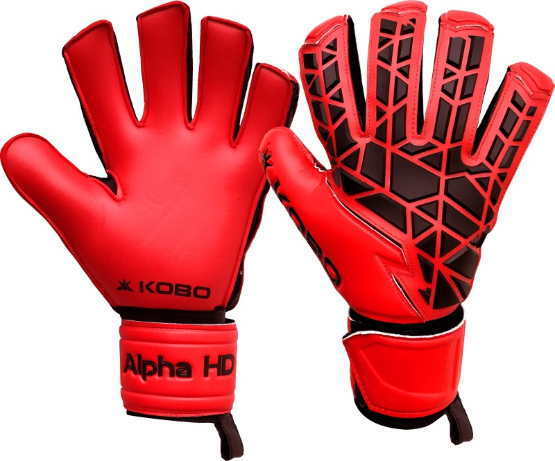 Kobo Alpha HD Goalkeeping Gloves (S, Red)