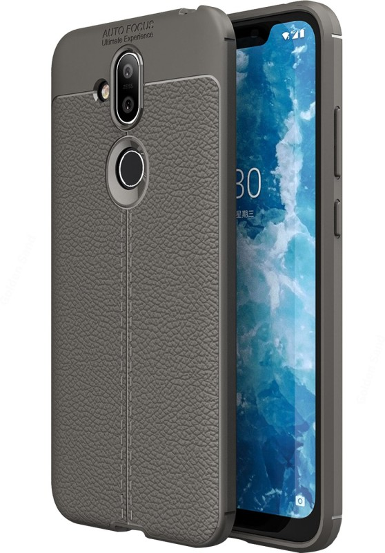 Golden Sand Back Cover for Nokia 8.1(Magnet Grey, Shock Proof)