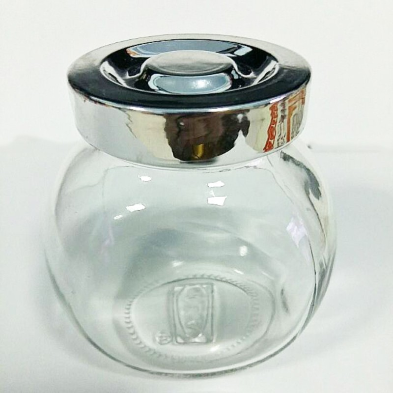 LIFEMUSIC small glass jars with kinds of lids Best Collection Portable STYLEST Glass Container with air Tight lid, Leakproof 100% dry fruit box/ dry fruit container/ dry fruit jars airtight multipurpose set of 4 - 400 ml - 400 ml Glass, Plastic Grocery Container, Oil Container, Utility Box, Tea Cof