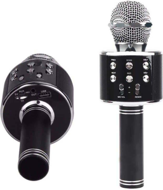 Padraig ROCK SOUND WS-858 Wireless Handheld Bluetooth Mic with Audio Recording and Karaoke Feature Microphone